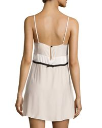 Carolina Herrera - Natural Sleeveless Two-tone Chemise - Lyst