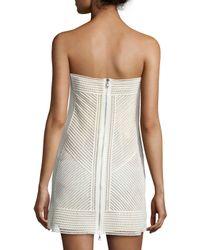 Kaufman Franco - Multicolor Strapless Bustier Mini Dress - Lyst