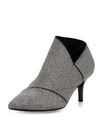 Adrianna Papell | Gray Heather Pointed-toe Elastic Bootie | Lyst