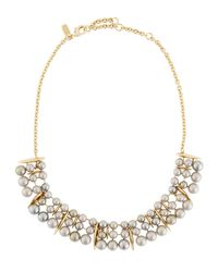 Alexis Bittar | Metallic Articulating Pearly Collar Spear Necklace | Lyst