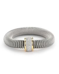 Alor | Metallic Micro-cable Pave Diamond Spring Coil Bracelet | Lyst