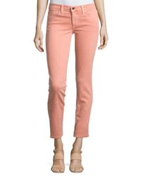 Joe's Jeans | Pink Straight-leg Twill Ankle Pants | Lyst