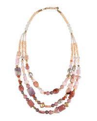 Nakamol | Multicolor Long Triple-strand Beaded Necklace | Lyst