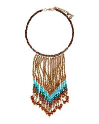 Nakamol - Multicolor Beaded Statement Bib Necklace - Lyst