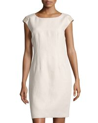 Lafayette 148 New York | Multicolor Josette Cap-sleeve Sheath Dress | Lyst