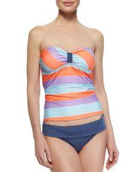 Splendid | Blue Fold-over Swim Bottom | Lyst