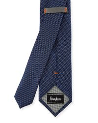 Neiman Marcus - Metallic Dotted And Square Woven Tie for Men - Lyst