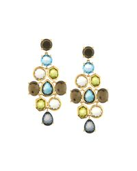 Ippolita | Metallic Rock Candy Gelato 18k Chandelier Earrings In Tartan Sett | Lyst