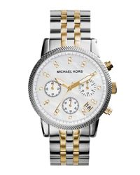 MICHAEL Michael Kors - Metallic 36mm Jet Set Crystal Bracelet Watch for Men - Lyst