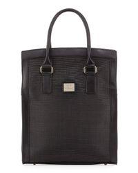 Gianfranco Ferré - Black Woven-center Shopper Tote Bag - Lyst