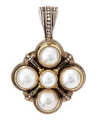 Konstantino - Metallic 5-pearl Square Pendant - Lyst