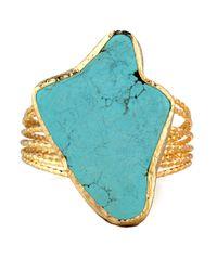 Panacea | Blue Amorphous Turquoise Cuff Bracelet | Lyst
