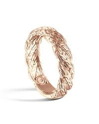 John Hardy - Metallic Classic Chain Twisted 18k Gold Ring - Lyst