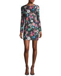 Black Halo - Multicolor Lively Long-sleeve Floral-printed Cocktail Dress - Lyst