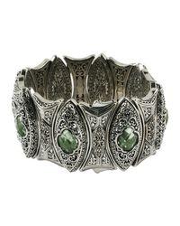 Konstantino | Etched Green Amethyst Statement Cuff Bracelet | Lyst