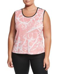 Ming Wang | Multicolor Reversible Printed Tank Top | Lyst