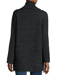 Vince - Black Open-front Car Coat Sweater - Lyst