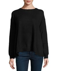 Autumn Cashmere | Black Reversible Cashmere Sweater | Lyst