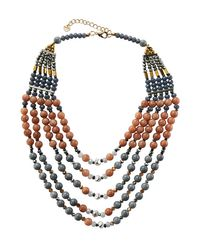 Nakamol | Multicolor Multi-strand Agate & Crystal Beaded Necklace | Lyst