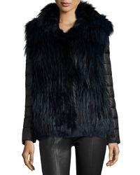 Gorski - Blue Fox Fur Stroller W/ Removable Down Sleeves - Lyst