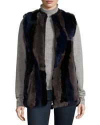 Love Token | Black Rabbit-fur Leather-trim Vest | Lyst