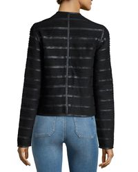 Bagatelle - Black Faux-leather And Faux-suede Jacket - Lyst