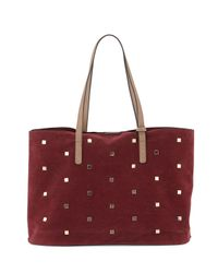 Neiman Marcus   Multicolor Studded Faux-suede Tote Bag   Lyst