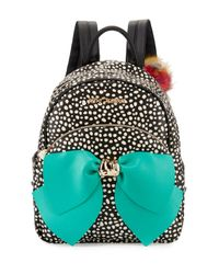 Betsey Johnson | Black Bow Faux-leather Backpack | Lyst