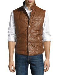 Brunello Cucinelli | Brown Reversible Puffer Vest for Men | Lyst