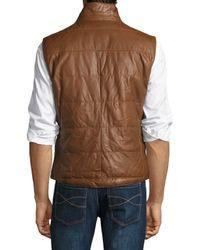Brunello Cucinelli - Brown Reversible Puffer Vest for Men - Lyst