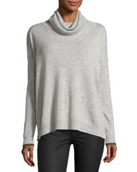 Three Dots | Gray Raleigh Cashmere Cowl-neck Sweater | Lyst