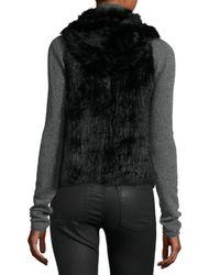 525 America | Gray Hooded Rabbit Fur Vest | Lyst