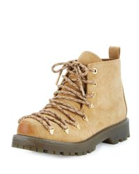 Circus by Sam Edelman - Natural Kane Suede Combat Bootie - Lyst
