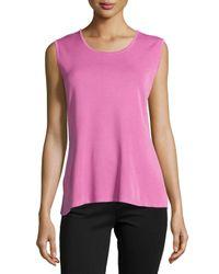 Misook | Pink Scoop-neck Knit Tank | Lyst