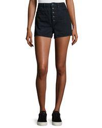 Helmut Lang | Blue High-waist Denim Shorts | Lyst