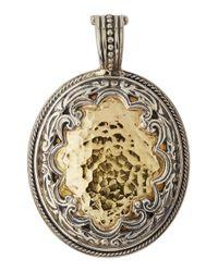 Konstantino | Metallic Aspasia Hammered Oval Pendant Enhancer | Lyst