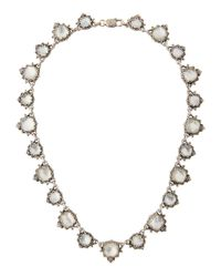 Konstantino | White Aura Silver & Mother-of-pearl Cushion Necklace | Lyst