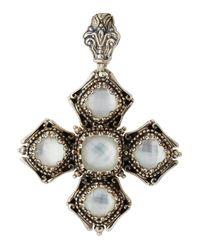 Konstantino | White Aura Crystal Doublet Cross Pendant Enhancer | Lyst