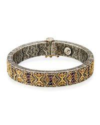 Konstantino | Metallic Artemis Pave Rhodolite Hinged Bangle Bracelet | Lyst
