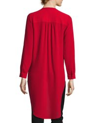 Laundry by Shelli Segal - Red Faux-wrap High-low Tunic - Lyst