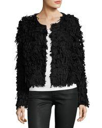 525 America | Black Textured Long-sleeve Crop Jacket | Lyst