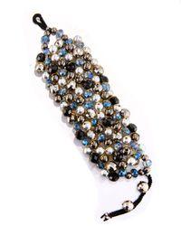 Nakamol - Metallic Wire-wrapped Beaded Cuff Bracelet - Lyst