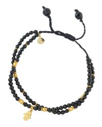 Tai | Black Spinel Beaded Bracelet W/ Hamsa Charm | Lyst