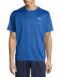 Fila   Blue Short-sleeve Crewneck Nylon Tee for Men   Lyst