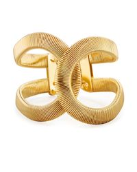 Fragments | Metallic Coiled Hinged Cuff Bracelet | Lyst