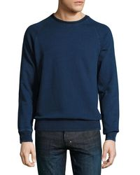 Original Penguin | Blue Long-sleeve Washed Indigo Sweatshirt for Men | Lyst