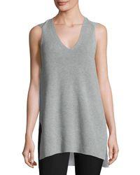 1.STATE | Gray Sleeveless V-neck Sweater | Lyst