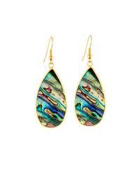 Panacea | Green Abalone-hue Teardrop Earrings | Lyst