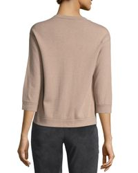Brunello Cucinelli - Natural Button-front Cashmere Cardigan - Lyst
