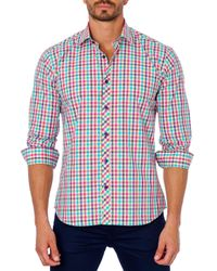 Jared Lang - White Plaid Sport Shirt for Men - Lyst